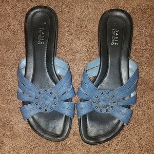 Denim blue Sandals